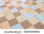 colorful tiles textures...   Shutterstock . vector #585909890