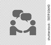 businessman meeting bubble... | Shutterstock .eps vector #585910640