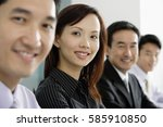 business people in a row ... | Shutterstock . vector #585910850