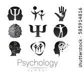 modern sign logo set of... | Shutterstock .eps vector #585914816