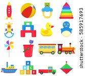 children's toys  pyramid  ball  ... | Shutterstock .eps vector #585917693
