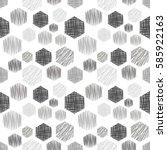 seamless vector geometrical... | Shutterstock .eps vector #585922163