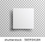 realistic white  blank package... | Shutterstock .eps vector #585934184