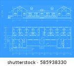 the author's architectural... | Shutterstock .eps vector #585938330