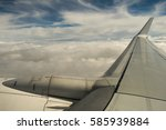 airplane sky far away | Shutterstock . vector #585939884