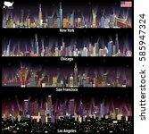 abstract vector illustrations... | Shutterstock .eps vector #585947324