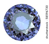 round amethyst isolated on... | Shutterstock . vector #58596730