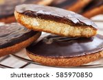 delicious jaffa cakes  biscuits ... | Shutterstock . vector #585970850