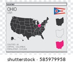 a united states of america... | Shutterstock .eps vector #585979958