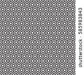 seamless hexagonal honeycomb...   Shutterstock .eps vector #585983843