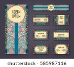 business cards  invitations and ... | Shutterstock .eps vector #585987116