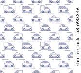 pattern children's cars | Shutterstock .eps vector #585988346