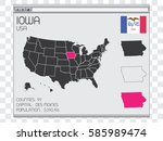a united states of america... | Shutterstock .eps vector #585989474