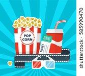 cinema movie poster illustration | Shutterstock .eps vector #585990470