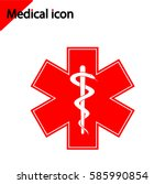 medical icon on white... | Shutterstock .eps vector #585990854