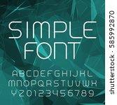 simple alphabet vector font in... | Shutterstock .eps vector #585992870