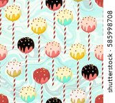 candy seamless pattern with... | Shutterstock . vector #585998708