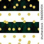 trendy gold glitter seamless... | Shutterstock . vector #586000454