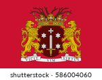 flag of haarlem is a city and... | Shutterstock .eps vector #586004060