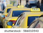 Detail Of Yellow Taxi Cars On...