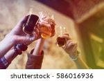 craft beer booze brew alcohol... | Shutterstock . vector #586016936