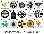 target shooting range  bullet... | Shutterstock .eps vector #586021100