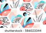 hand drawn vector artistic... | Shutterstock .eps vector #586023344