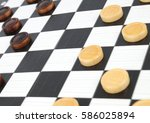 checkers game | Shutterstock . vector #586025894