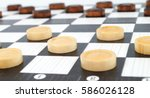 checkers game | Shutterstock . vector #586026128