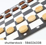 checkers game | Shutterstock . vector #586026338