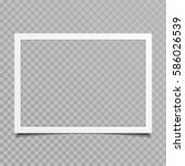 blank photo frames with shadow... | Shutterstock .eps vector #586026539