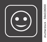 smile icon. flat design. | Shutterstock .eps vector #586028000