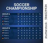 sport  football or soccer.... | Shutterstock .eps vector #586029434