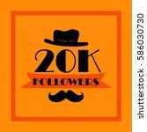20k followers. thank you... | Shutterstock .eps vector #586030730
