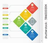 business presentation concept... | Shutterstock .eps vector #586033304