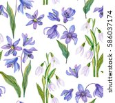 watercolor seamless pattern... | Shutterstock . vector #586037174