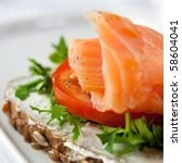 Sandwich With Smoked Salmon ...