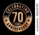 70 years anniversary logo... | Shutterstock .eps vector #586040780