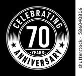 70 years anniversary logo... | Shutterstock .eps vector #586040816