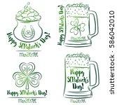 design  for  st patricks day ... | Shutterstock .eps vector #586042010