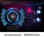hud background outer space.... | Shutterstock .eps vector #586044320
