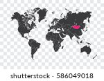illustrated world map with the... | Shutterstock .eps vector #586049018