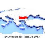 bulgaria in red color on simple ...   Shutterstock . vector #586051964