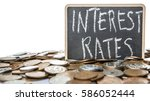 concept image of interest rates ... | Shutterstock . vector #586052444