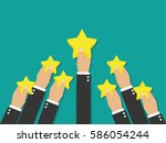 feedback recognition | Shutterstock .eps vector #586054244