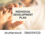 closeup on businessman holding...   Shutterstock . vector #586054520