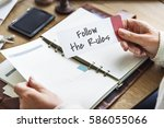 follow the rules society... | Shutterstock . vector #586055066