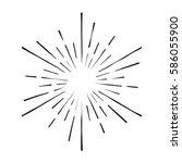 vintage sunburst | Shutterstock .eps vector #586055900