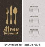 vector restaurant and cafe menu ... | Shutterstock .eps vector #586057076