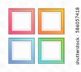 Square Color Frame Set. Empty...